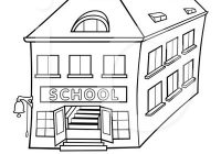 School Clipart Black And White.
