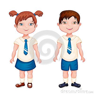 School Uniforms Clipart Black And White.