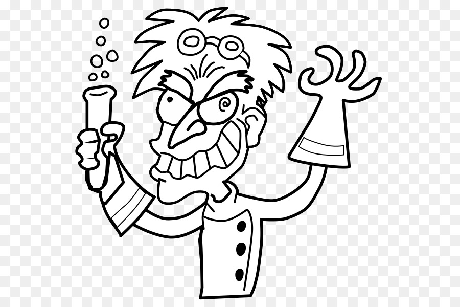 Mad Scientist Black And White Science Clip Art Vast Clipart Fresh 14.