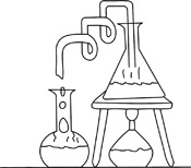 Black And White Science Clipart Sketch 4056.