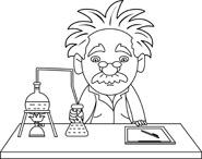 Scientist Clipart Black And White.