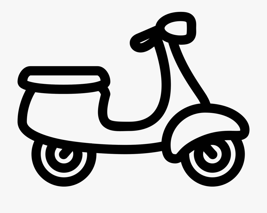 Vector Formatting Motorcycle Outline Picture Free Stock.