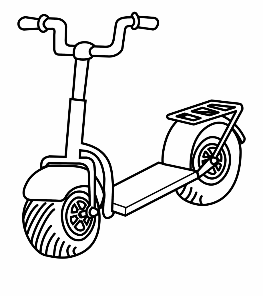 Free Scooter Clipart Black And White, Download Free Clip Art.