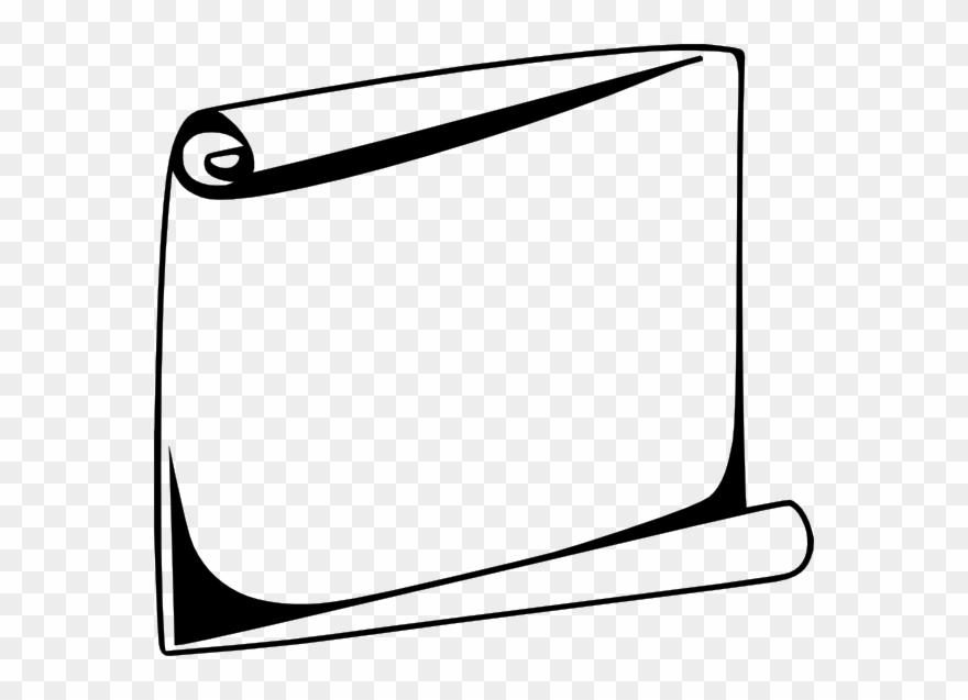 Scroll Png Black And White Clipart (#347432).