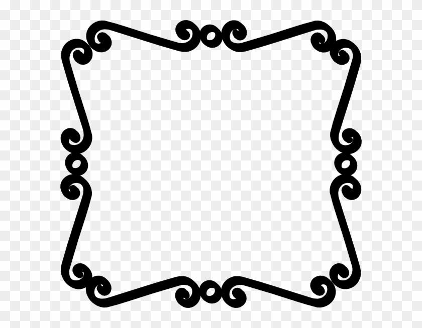 Banner Black And White Stock Simple Scroll Design Clip.