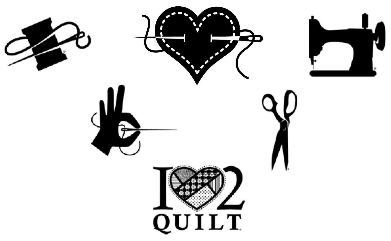 Image result for sewing clipart black and white.