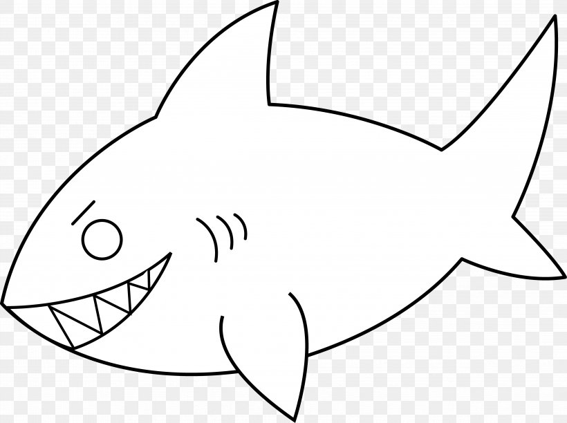 Great White Shark Free Content Clip Art, PNG, 4863x3631px.