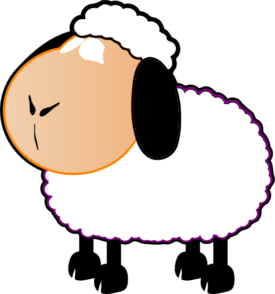Black And White Sheep Clip Art at Clker.com.