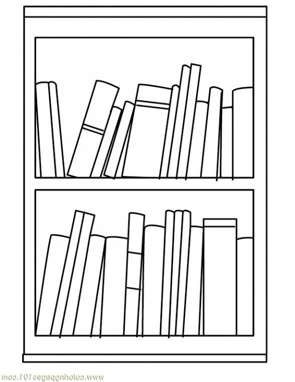 Bookshelf clipart black and white, Picture #113496 bookshelf.