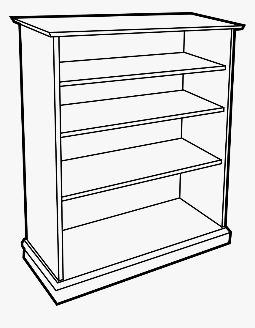 Shelf Clipart Black And White, HD Png Download.