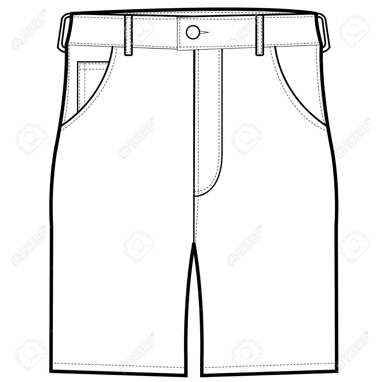 Front Shorts vector.