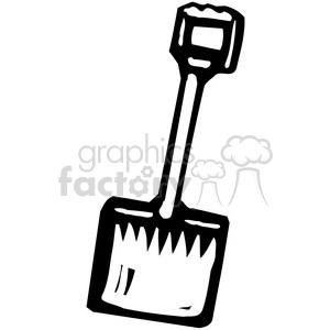 black and white shovel clipart. Royalty.