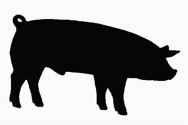 Show Pig Silhouette.