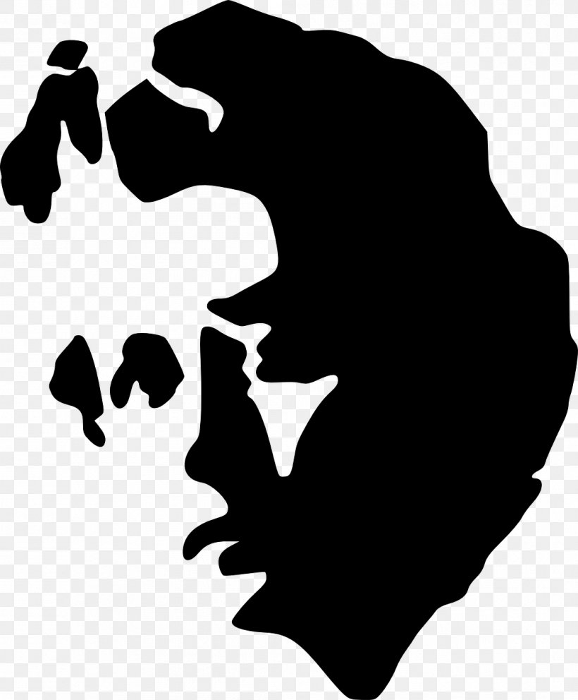 Black And White Silhouette Clip Art, PNG, 1057x1280px, Black.