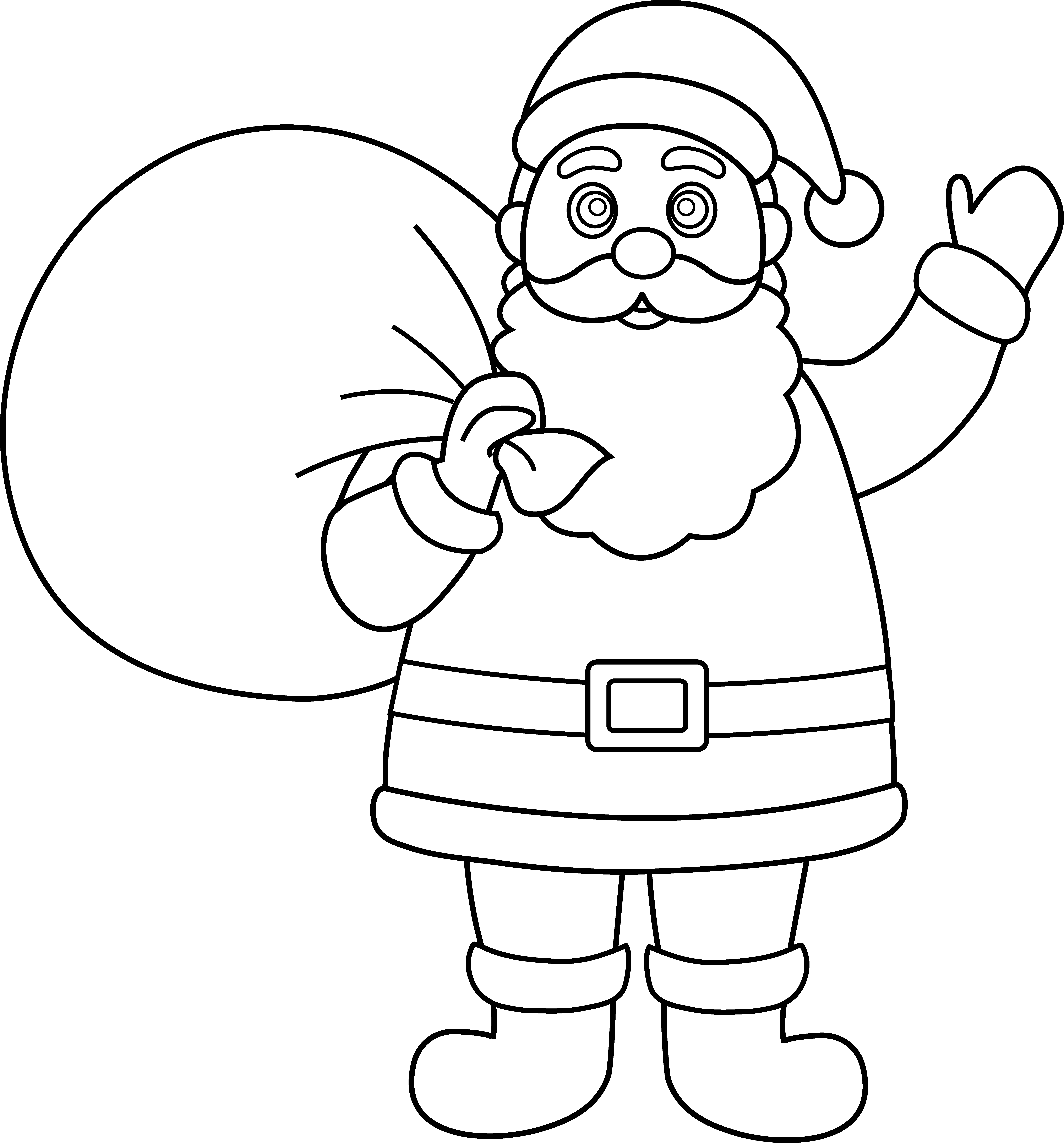 Santa Clipart Black And White. Clip Art. Ourcommunitymedia Free.