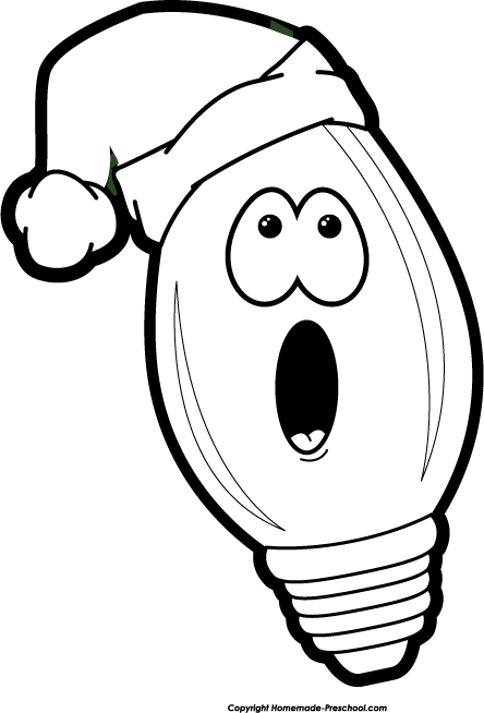Free Christmas Lights Clipart.