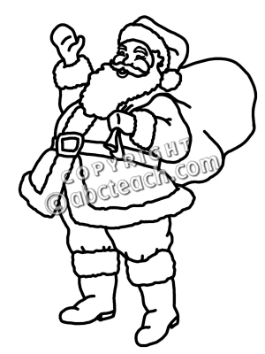 Clip Art. Santa Clipart Black And White. Drupload.com Free Clipart.