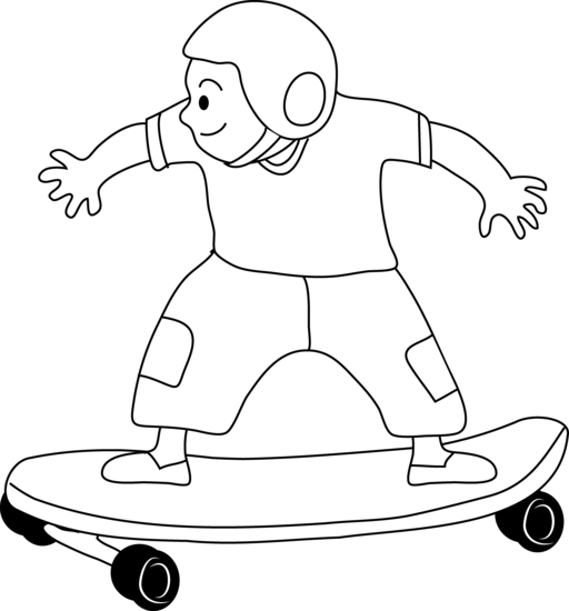 Free Skateboard Clipart Black And White, Download Free Clip.