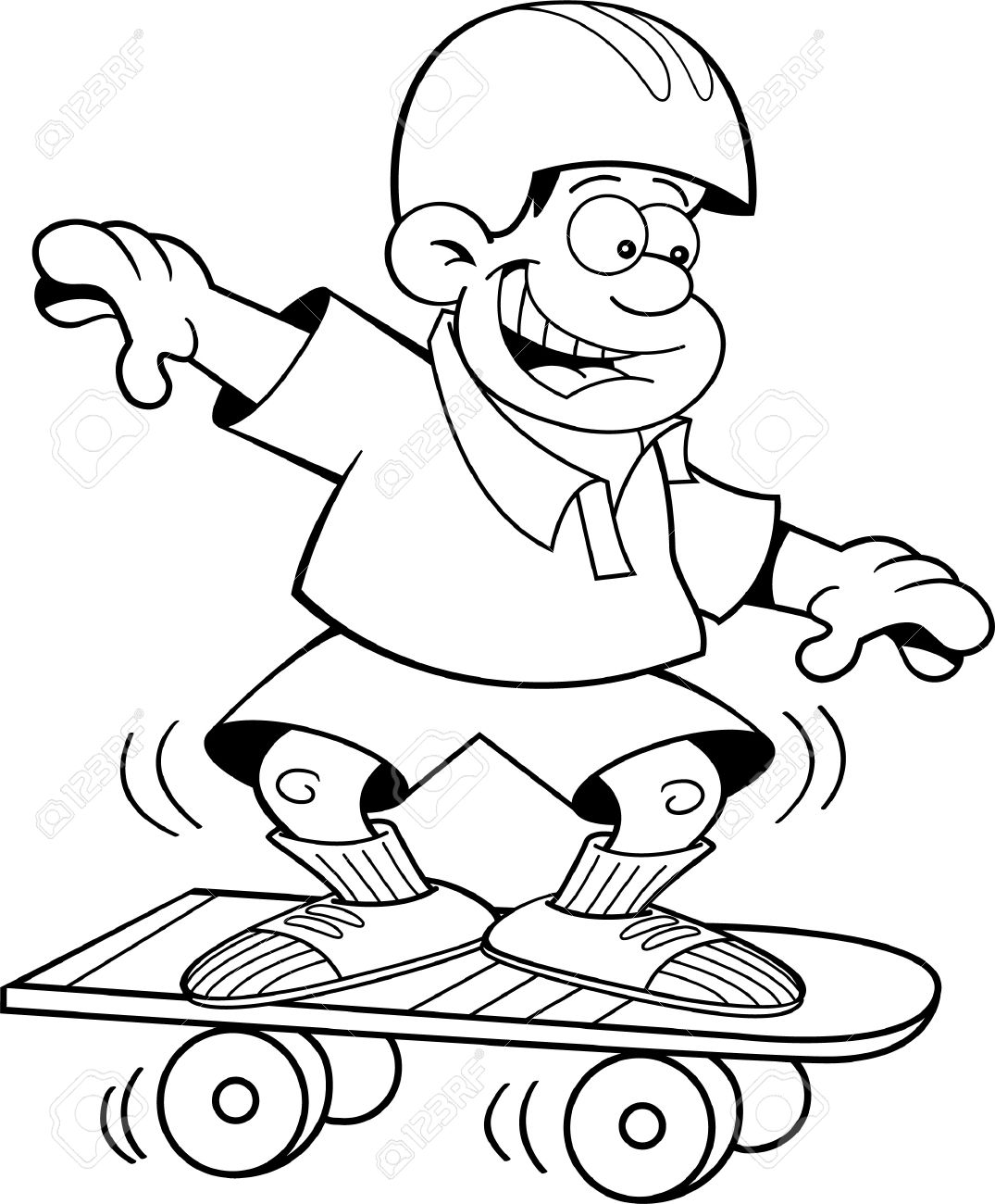 Skateboard clipart black and white 1 » Clipart Station.