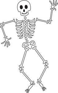 Free Skeleton Clipart Black And White, Download Free Clip.