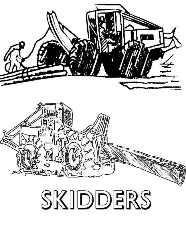 Logging Skidder Clip Art.