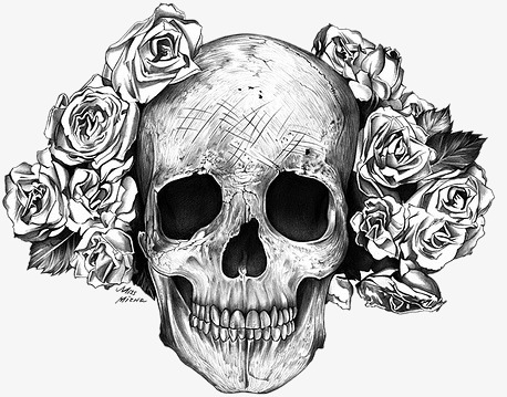 Skull, Skull Clipart, Black And White PNG Transparent Image and.