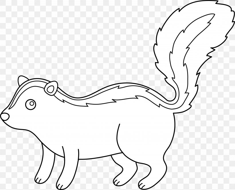 Skunk Drawing Black And White Clip Art, PNG, 8360x6754px.