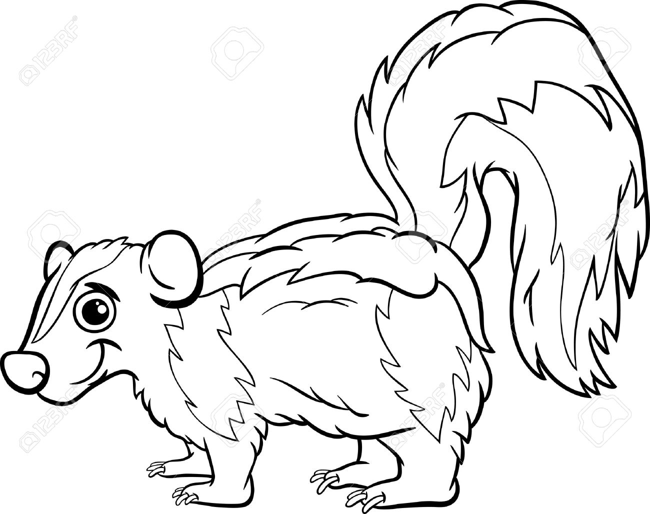 500 Skunk free clipart.