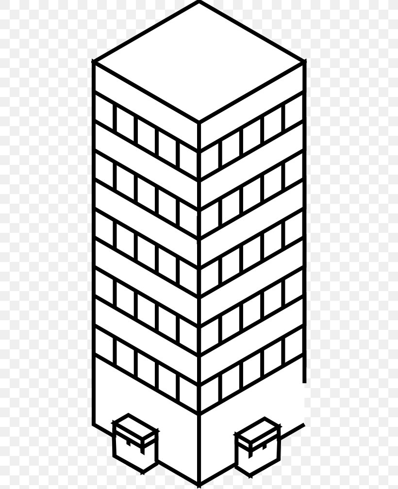 Clip Art Black And White Skyscraper Vector Graphics Drawing.