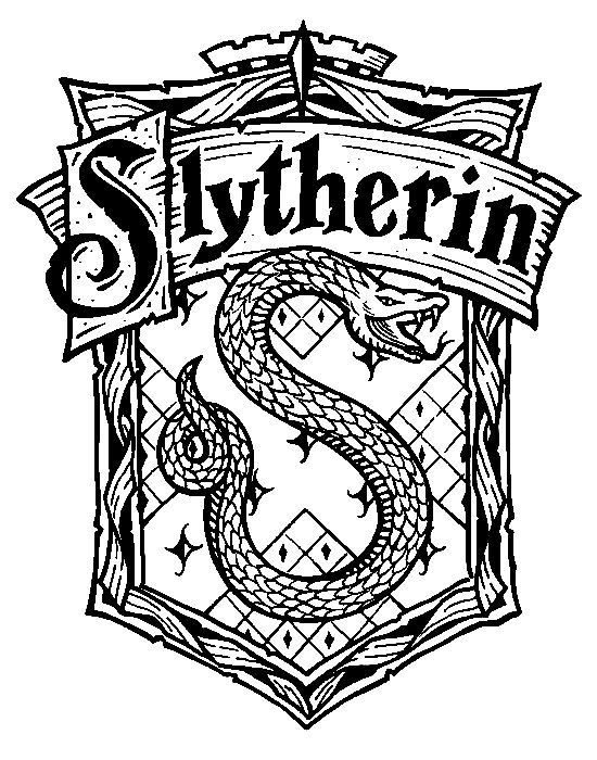 harry potter house crests coloring pages to print.