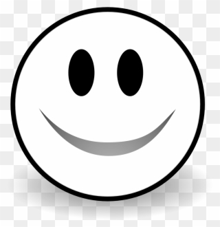 Black And White Smile Clipart.