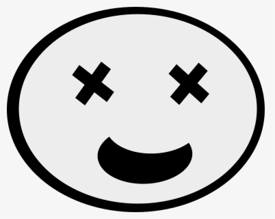 Free Smiley Face Black And White Clip Art with No Background.