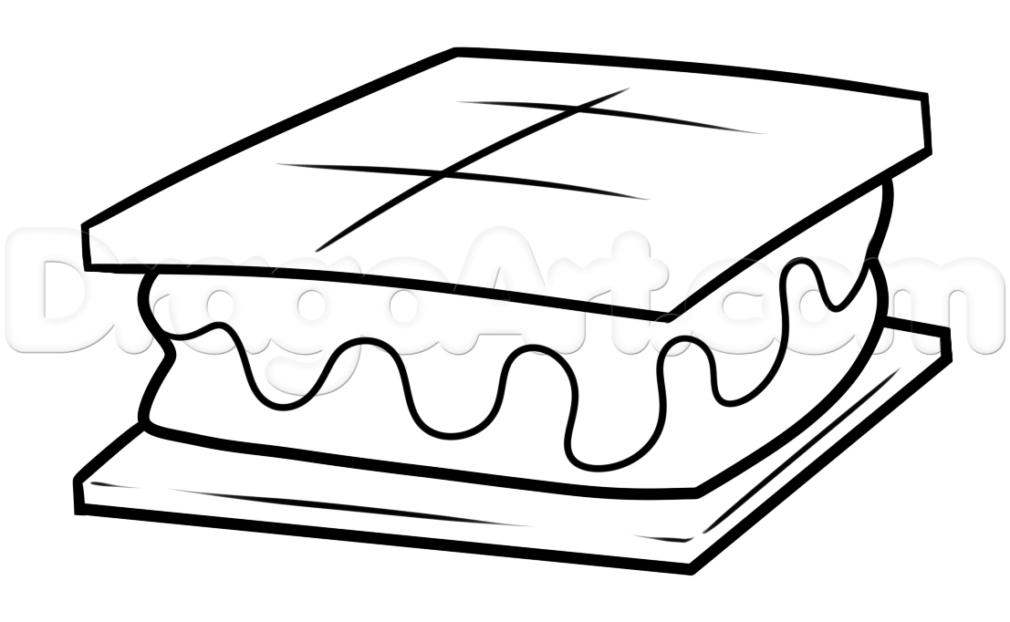 Smores Clipart Black And White.