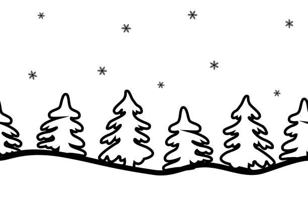Snow Background Clipart Black And White.