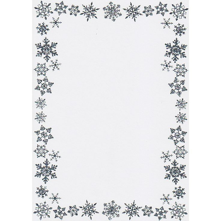 Snowflake+Border+Writing+Paper.