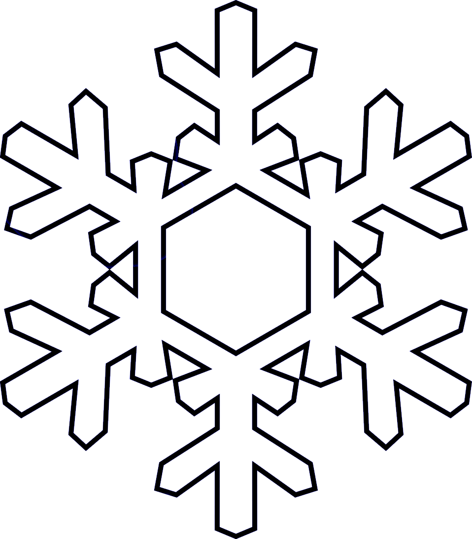 HD Snowflakes Clipart Black And White.