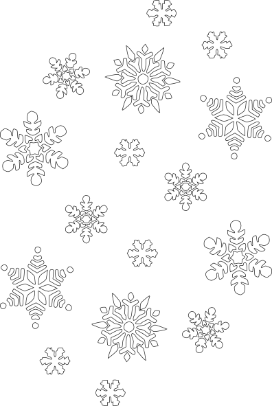 Collection of 14 free Snowflakes clipart black and white bill.
