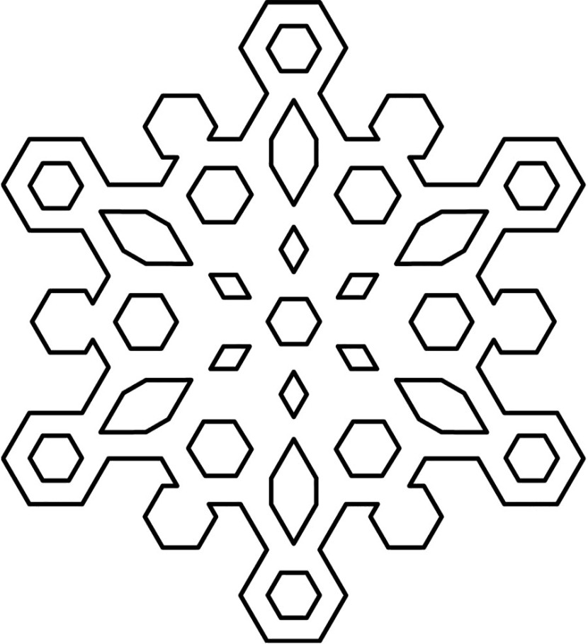 94+ Snowflake Clipart Black And White.