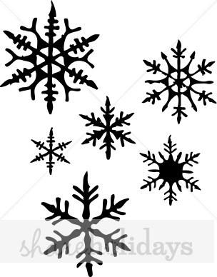Snowflake Clipart Free Black White.