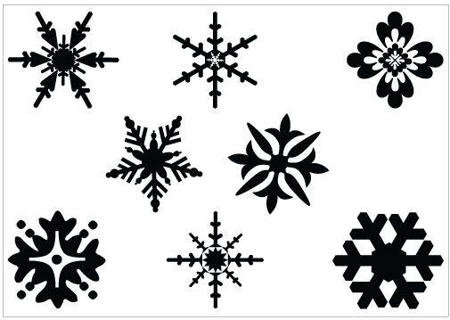 Snowflakes snowflake clipart black and white free clipart 2.