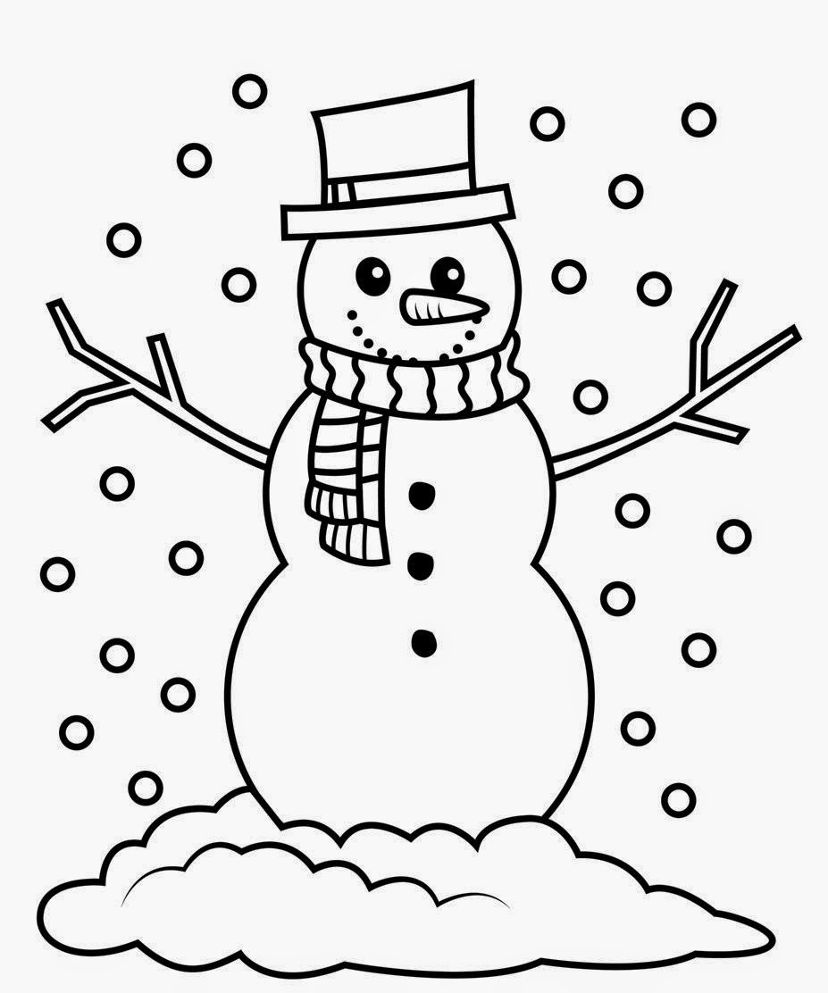 Snowman clipart black and white New Snowman black and white.