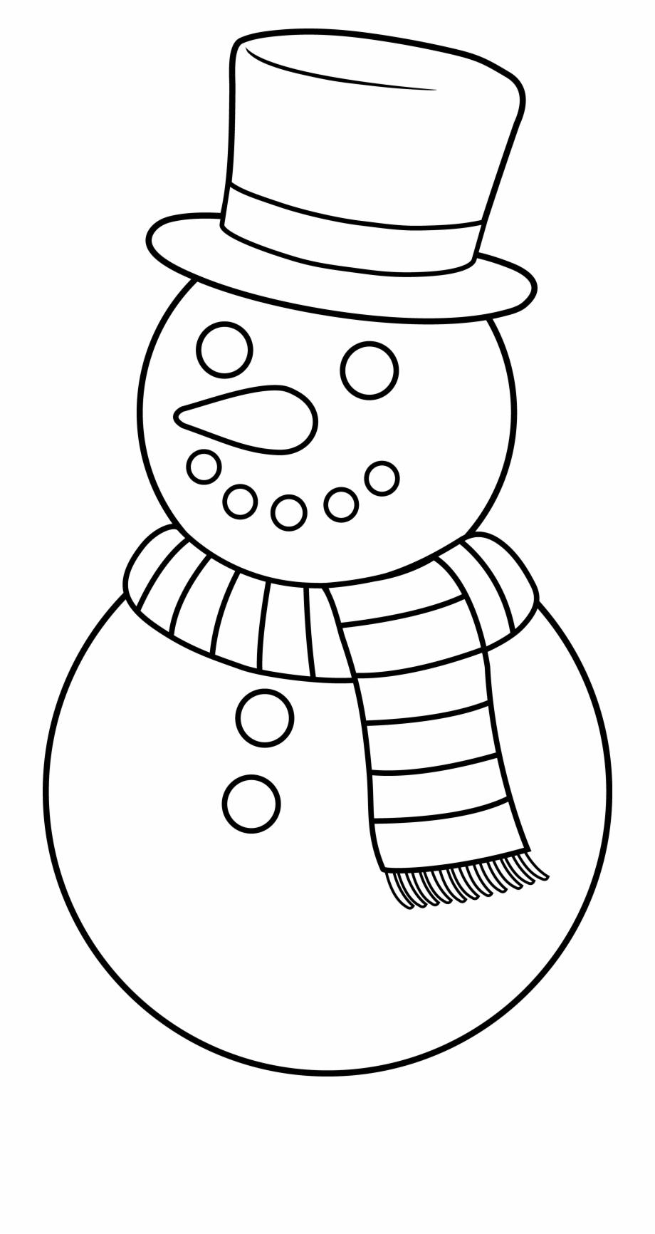 Snowman Clipart Outline.