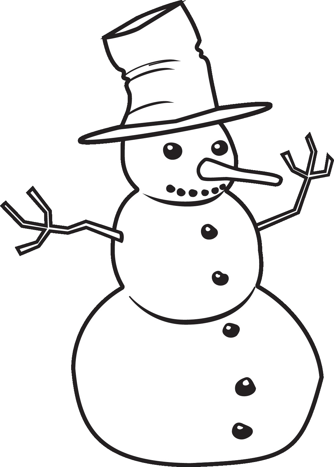 Snowman Free Cliparts Black Clip Art Noticeable Clipart And White.
