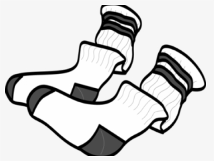Free Socks Black And White Clip Art with No Background.