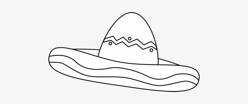 Black And White Sombrero Clip Art.