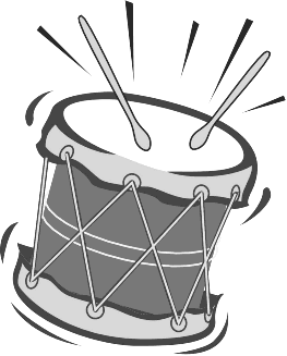 Loud sounds clipart black and white.