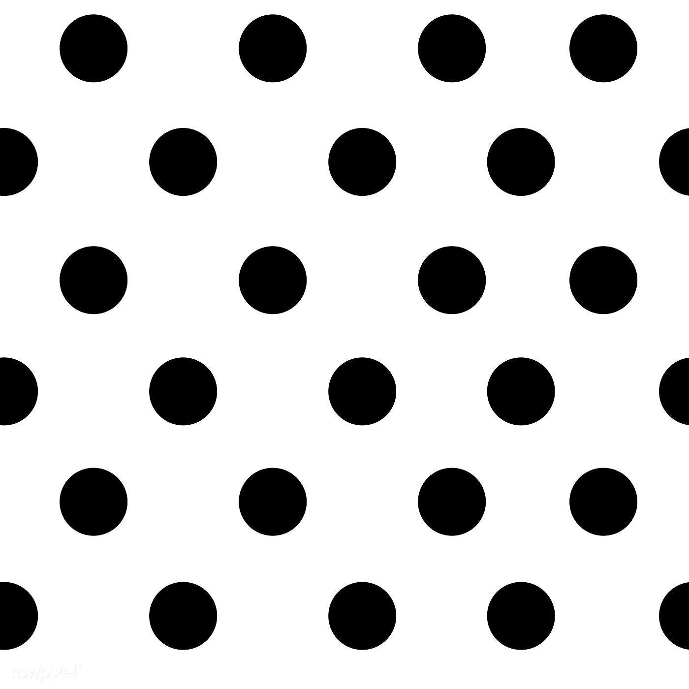 Black and white seamless polka dot pattern vector.