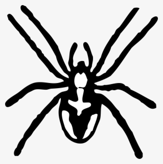Free Spider Black And White Clip Art with No Background.
