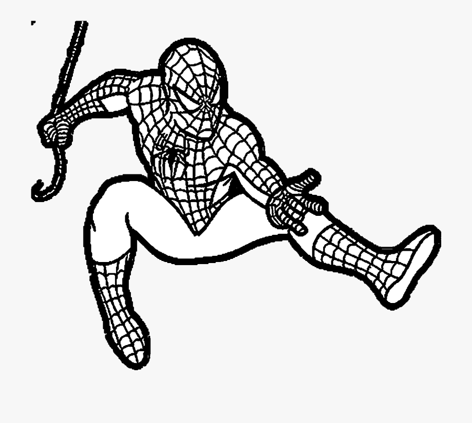 Spiderman Clipart Black And White Transparent Png.