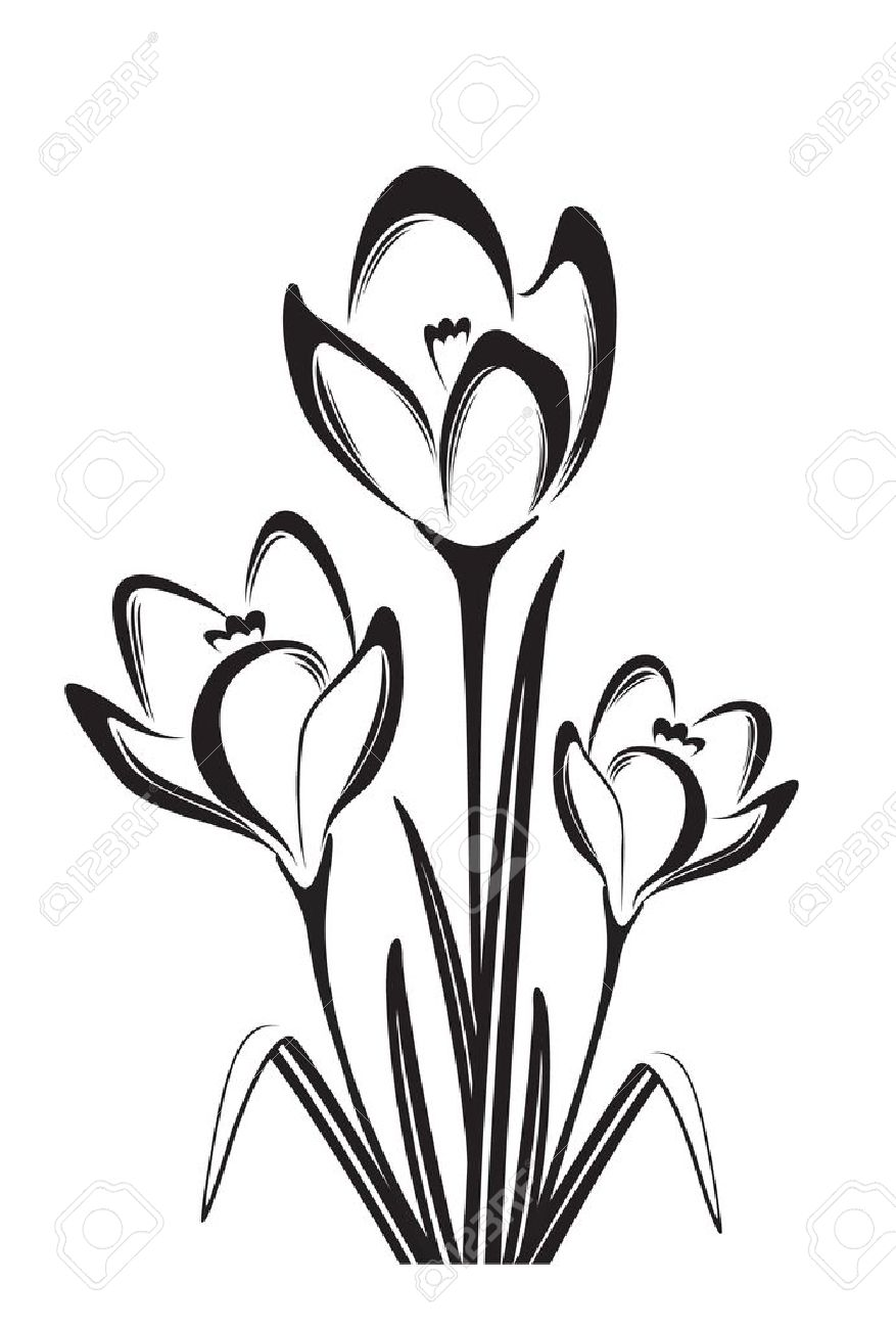 black and white spring flowers clip art 20 free Cliparts ...